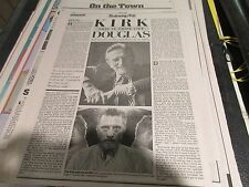 Bette Davis / Kirk Douglas , NY Daily News , Newspaper Clipping / Poster ,4/5/87