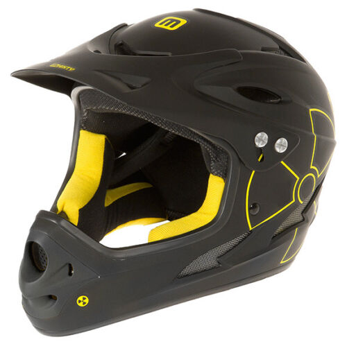 Mighty Downhill Downhillhelm BMX Freeride Fullface Helm Fall out  in 2 Groessen