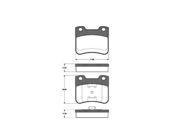 NK 224710 Bremsbeläge Beläge Bremsbelagsatz Belagsatz Bremsklötze vorne