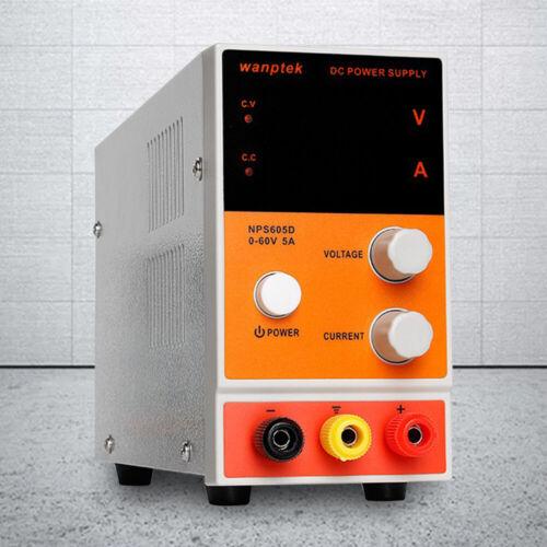0-60V 0-5A DC Digital Einstellbar Netzteil Labornetzgerät Trafo Power Supply DHL
