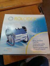 Sanford Rolodex Rotary Business Card File Az Tabs 200 Sleeved Cards Blue 2 18x4