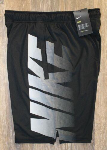 NWT Men/'s NIKE LOGO Dri-Fit Shorts BLACK WHITE S M L XL $40!