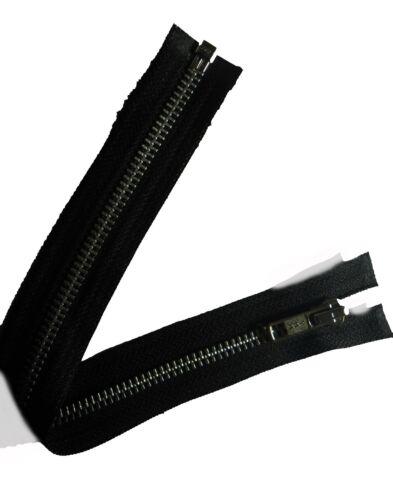 """N estremità aperta denti in alluminio 5 11.5/""""//29CM YKK zip nero HEAVY DUTY FREE P /& P"""