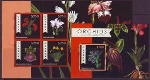 GUYANA-2012-ORCHIDS-OF-SOUTH-AMERICA-SHEETLET-4-MINISHEET-MINT-NEVERHINGED