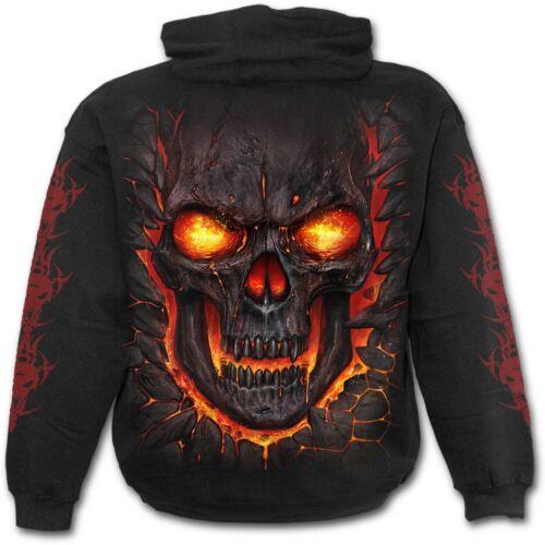Spiral Direct SKULL LAVA Hoodie Flames//Reaper//Skulls//Death//Hoody//Jumper
