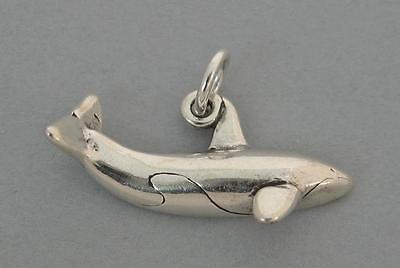Sterling Silver Charm Pendant ORCA KILLER WHALE Ocean Sea 1720
