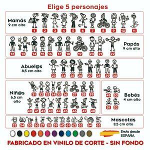 5X-MIEMBRO-FAMILIA-A-BORDO-PERSONAJE-PEGATINA-COCHE-VINILO-ADHESIVO-STICKER