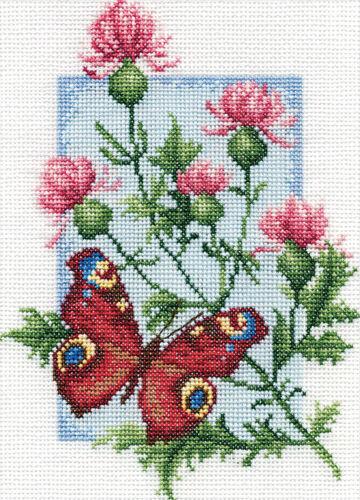 Peacock Butterfly Panna Cross Stitch Kit