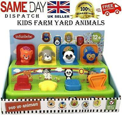 NEW Baby Toddler Farm Yard Animals Friends Pop Up Toy