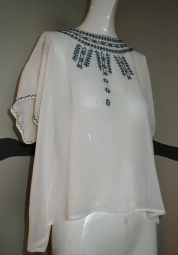 Vintage 1930s Blouse Embroidered Hungarian