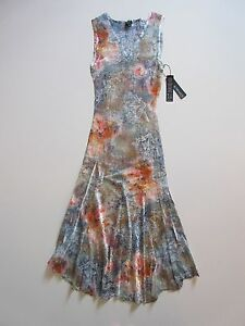 6ee5de1bb74 NWT KOMAROV Floral Print Lace Trim Inset Crinkle Sleeveless V-Neck ...