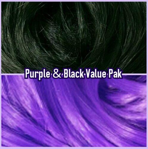 Black /& Purple XL 4oz 2 Color Value Pack Doll Rooting Hair Barbie Integrity MLP