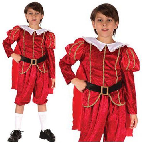 RAGAZZI Tudor Costume Tudor BOY Medievale Prince RAGAZZI Prince Costume 4-12