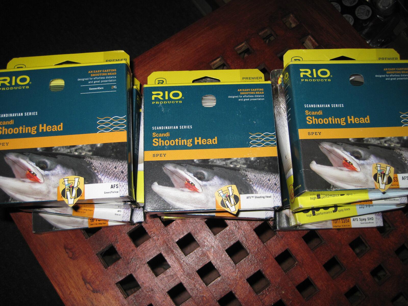 Rio Scandinavian Spey Series AFS Shooting Head Salmon Fliegen Lines
