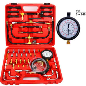 140PSI-Gas-Engine-Fuel-Injection-Pump-Injector-Tester-Dual-Dial-Pressure-Gauge