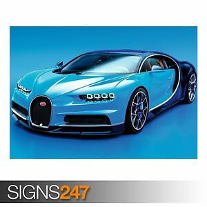 Image Is Loading BUGATTI CHIRON 2016 AC557 CAR POSTER Photo Picture