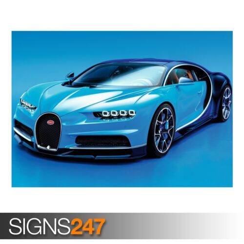 CAR POSTER Photo Picture Poster Print Art A0 to A4 BUGATTI CHIRON 2016 AC557