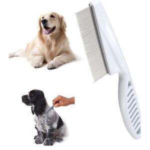 Cat-Dog-Metal-Nit-Head-Hair-Pet-Lice-Comb-Fine-Toothed-Flea-Flee-Handl-L-D