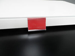 20-Riel-Para-Precios-6x4cm-ROJO-RAL-3000-Sostenedor-de-etiqueta-Estante