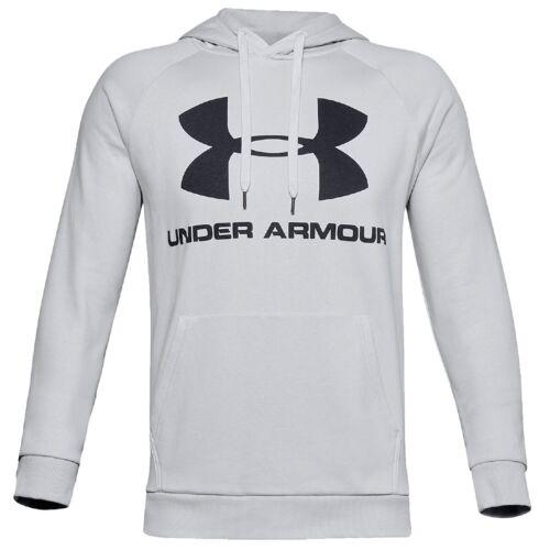 Under Armour ColdGear Rival Fleece Sportstyle Logo Hoodie Pullover 1345628-014