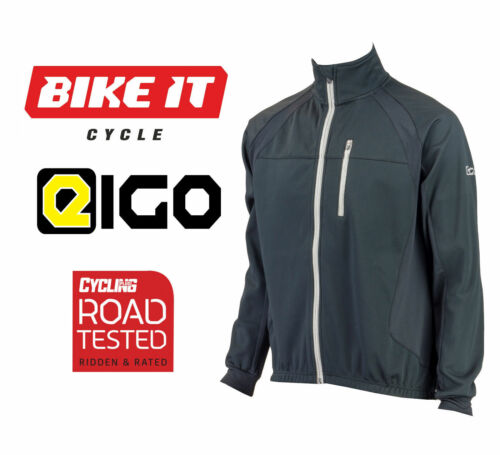2016 EIGO LEVANTER MENS WINDPROOF CYCLING JACKET BLACK MTB ROAD THERMAL JACKET