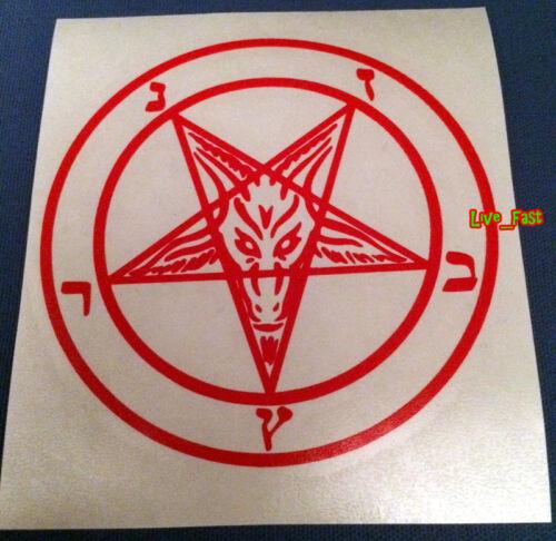 BAPHOMET PENTAGRAM DECAL STICKER VINYL satan black metal death metal goth gothic
