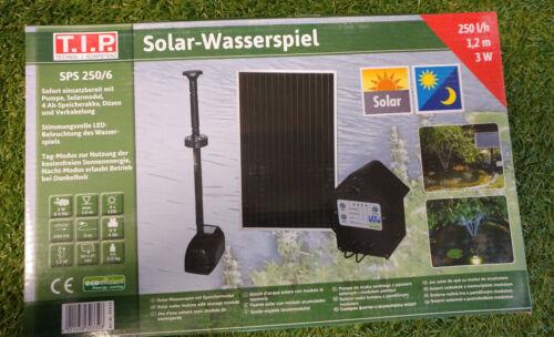 Solar-Teichpumpe SPS 250-6 mit Akku LED Beleuchtung Wasserspiel Batterie T.I.P