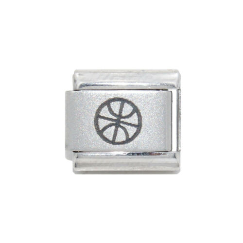 fits 9mm classic Italian Charm bracelets Basketball laser Italian Charm