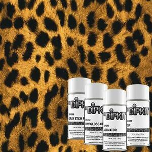 Hydrographic Dip Kit Cheetah Print with Tan base paint MyDipKit AP-033