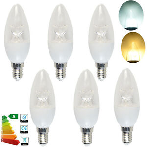 Light Bulbs Home, Furniture & DIY 24/12/6x Small Edison Screw E14 6W LED Candle Bulbs Spotlight SES Warm/Day White