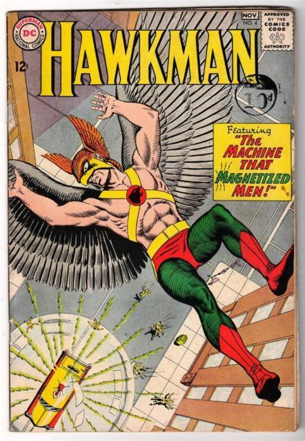 DC Comic HAWKMAN Silver age #4 5.0 issue superman 1st Zatanna  FN-