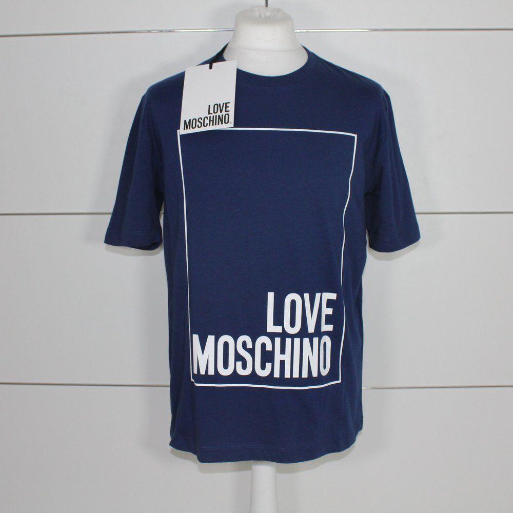 Love Moschino Navy Big Love Logo T-Shirt