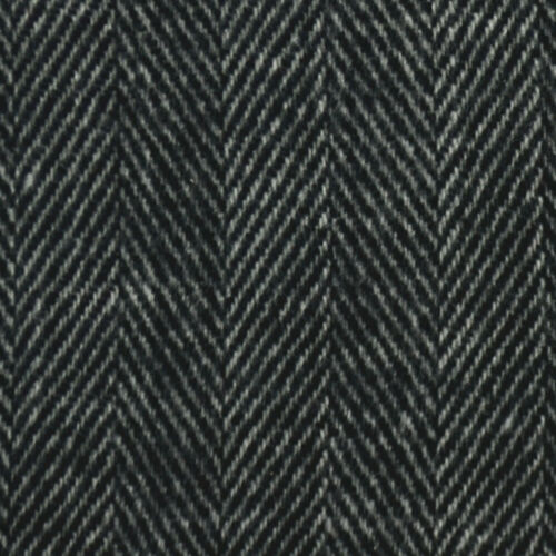 100/% CASHMERE Soft Warm Wool Thick Strip Scarf BLACK SCOTLAND For Unisex