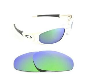 0bfb5b2741 Image is loading NEW-POLARIZED-CUSTOM-GREEN-LENS-FIT-OAKLEY-STRAIGHT-