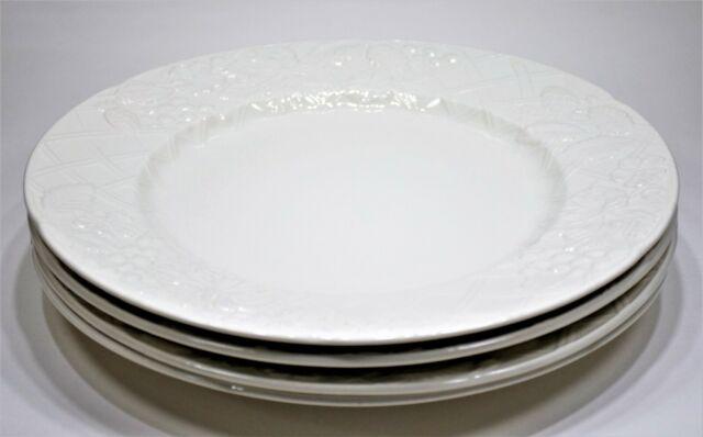 Mikasa English Countryside White Dinner Plates | DP 900 | Set of 4