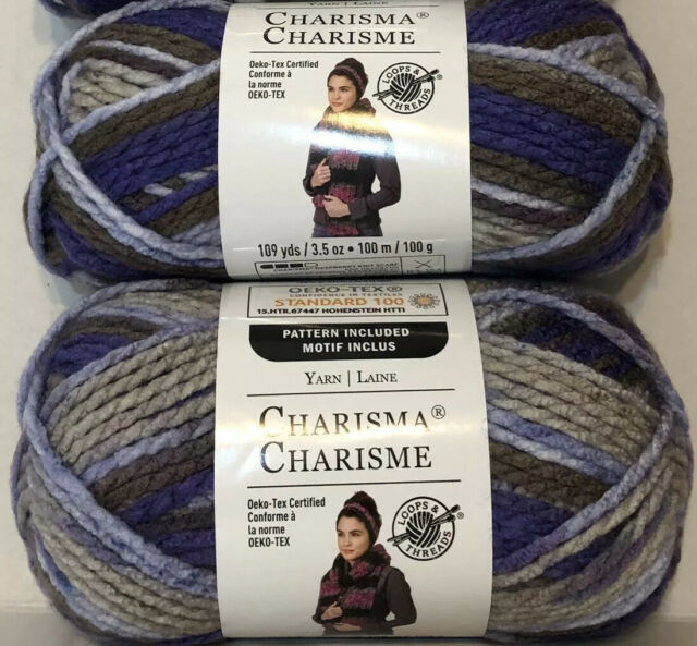 Loops and Threads Charisma Yarn Lot of 3 HAZE Bulky Worsted NEW COLOR