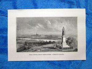 Gravure-Annee-1861-Statue-d-039-Erwin-duche-de-Bade-Statua-di-Erwin-ducato-di-Baden