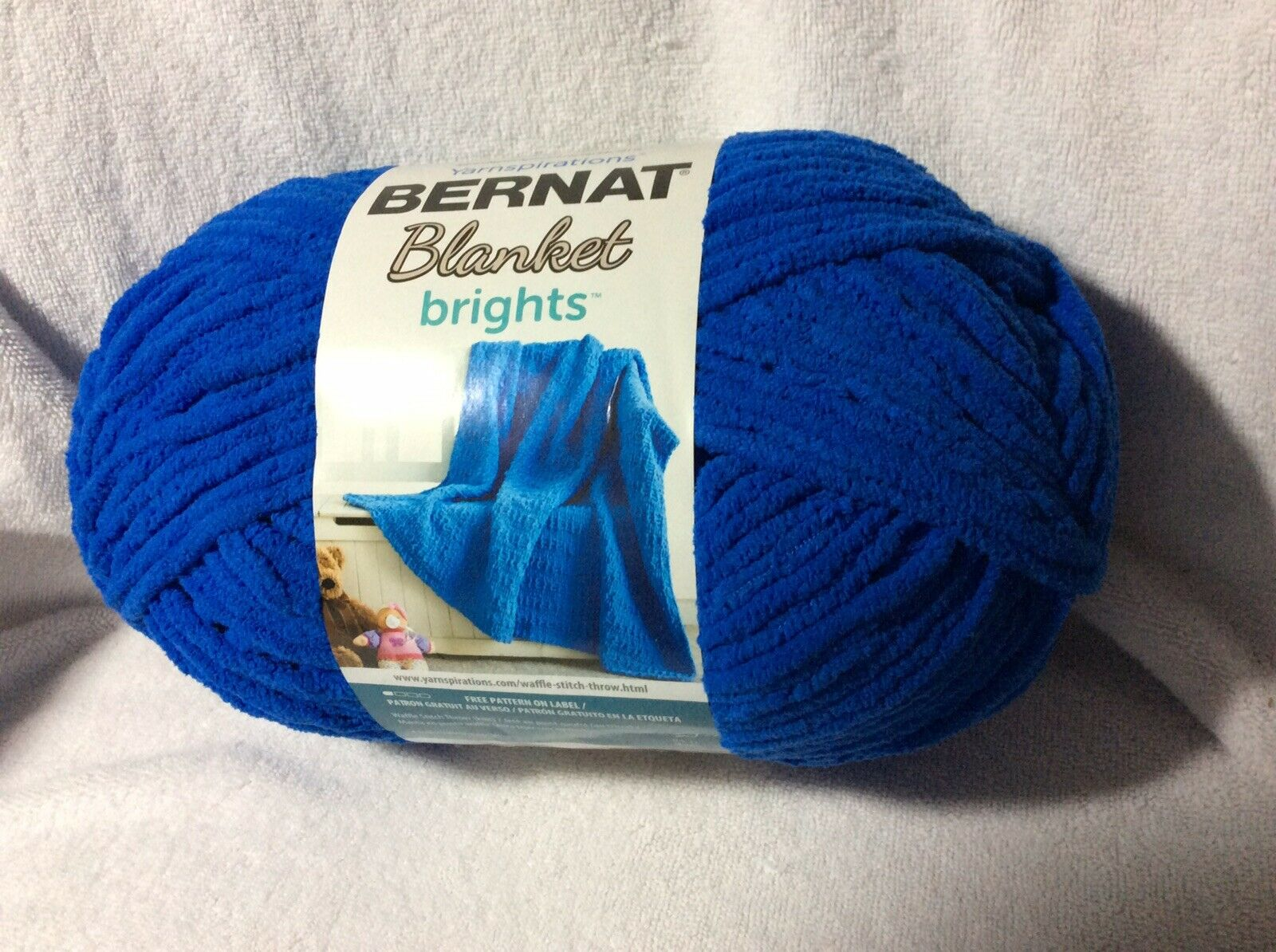 Royal Blue Bernat Blanket Bright Yarn