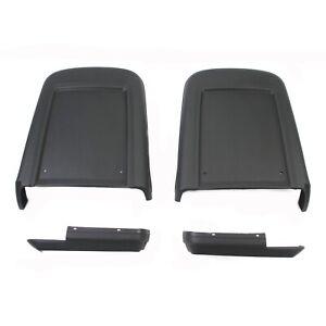 69-70 MUSTANG SEAT BACK PANELS PAIR BLACK