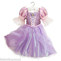 Disney Store Rapunzel Costume Dress Tangled Princess Gown 7/8 9/10