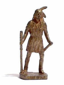 KINDER METALLFIGUREN - LONE WOLF - STATUINA SOLDATINO IN METALLO INDIAN - Italia - KINDER METALLFIGUREN - LONE WOLF - STATUINA SOLDATINO IN METALLO INDIAN - Italia