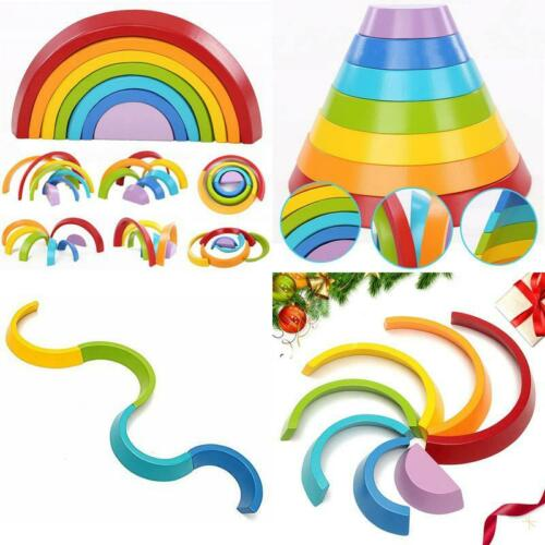King Do Way 7 Colori Legno Arcobaleno Blocchi Giocattoli Educativi In Legno Per