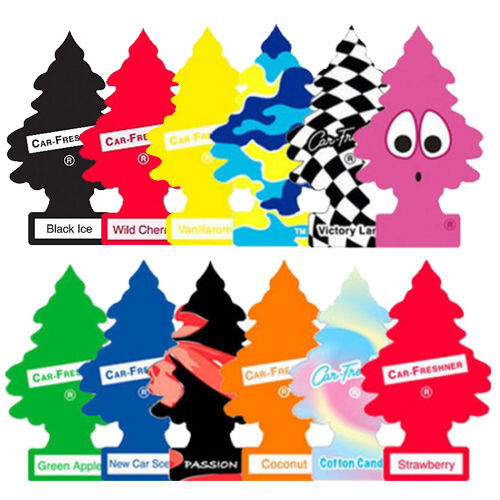 12x ASSORTED LITTLE TREES CAR AIR FRESHENER DEODORISER PURIFIER ODOUR TREE TRUCK