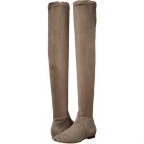 Joie Hayleigh Over the Knee OTK stivali Taupe Suede Tall donna stivali 36.5 6.5 US