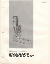 Caterpillar Towmotor Standard Slider Mast Service Manual Rec00725 D1350