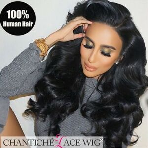 b6151b0f58 Body Wave Lace Front Wig Brazilian Remy Human Hair Wigs for African ...