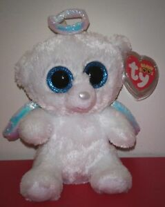 420243f7fc4 Ty Beanie Boos ~ HALO the Angel Bear (6 Inch) NEW MWMT