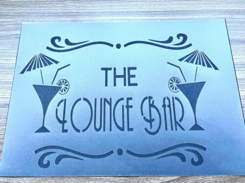 A4 Cocktail Bar Stencil Bar Sign Garden Furniture Wall Craft Decor Alcohol Pub