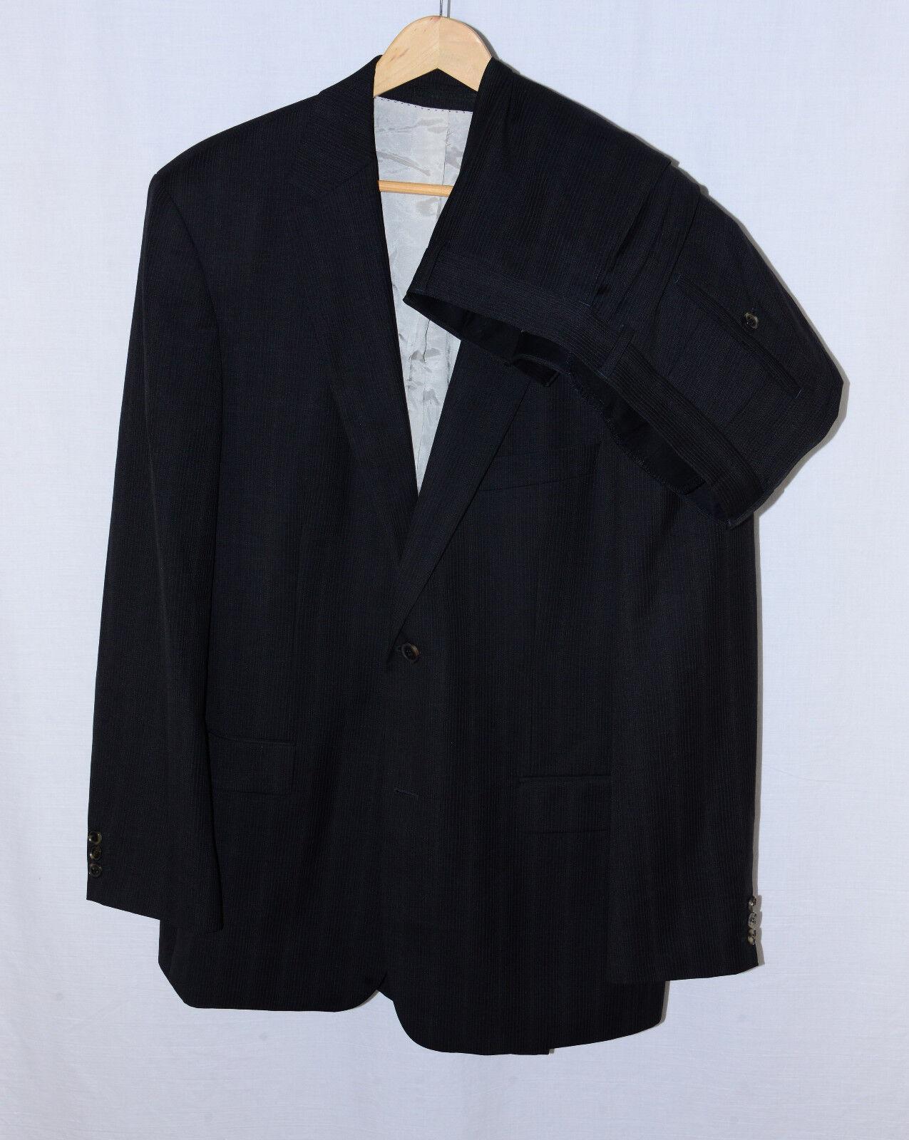 HUGO BOSS charcoal pinstripe Bertolucci   Movie 2 button suit 44, 35 pants
