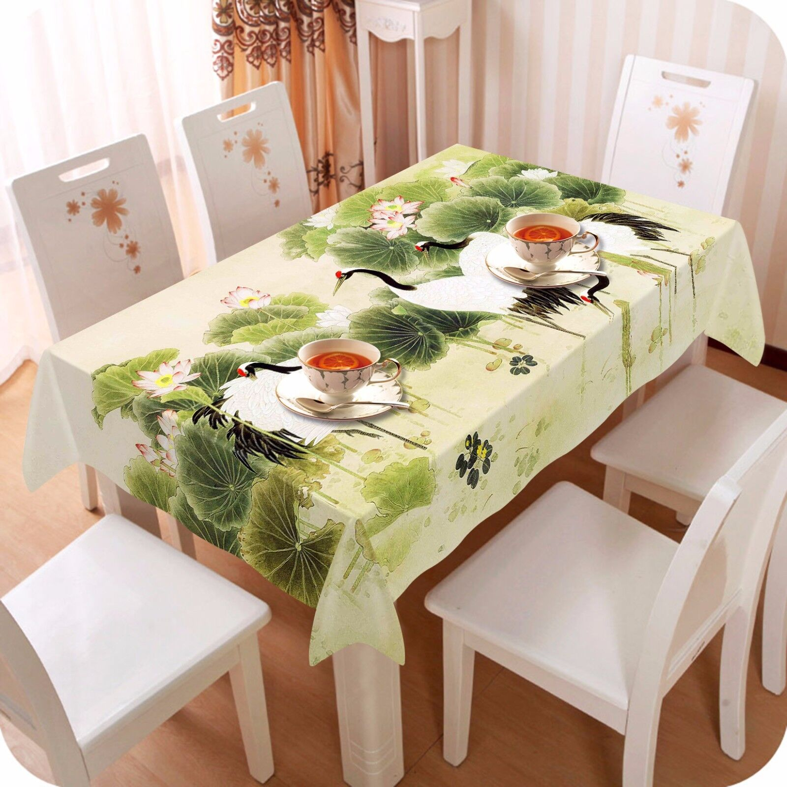 3D Leaves 46 Tablecloth Table Cover Cloth Birthday Party AJ WALLPAPER UK Lemon